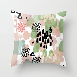 spring 2 modern contemporary Throw Pillow