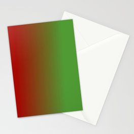 Ombre in Red Green Stationery Cards