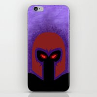 magneto iPhone & iPod Skins featuring Magneto by Sprite