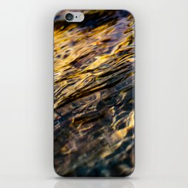River Ripples in Yellow Gold and Brown iPhone Skin
