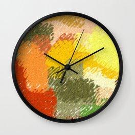 Abstract art watercolor art minimalist orange brown Wall Clock