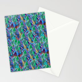 Crystal Shards in Oil Slick Rainbow Aura Stationery Cards