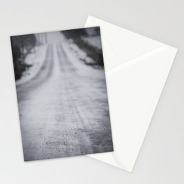 Down the Frozen Road Stationery Cards
