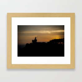 The Sun at His Back Framed Art Print