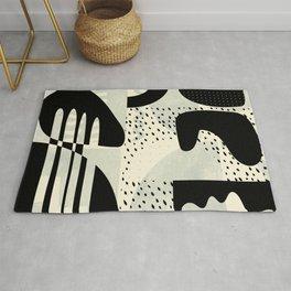 mid century geometric abstract Rug