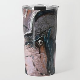 Determination. A portrait of a young girl Travel Mug