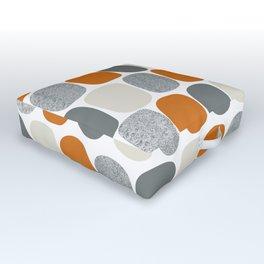 Wonky Ovals in Orange Outdoor Floor Cushion