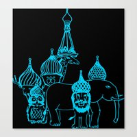 moscow Canvas Prints featuring Moscow by OneOneTwo