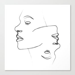""""""" Profile Collection """" - Two faces Canvas Print"""