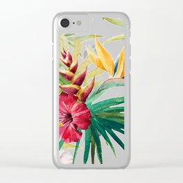 Tropical Floral Pattern 05 Clear iPhone Case