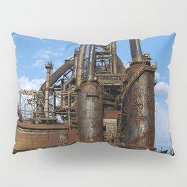 Bethlehem Steel Blast Furnaces Pillow Sham