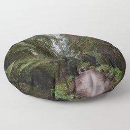 Redwood Forest Adventure III - Nature Photography Floor Pillow