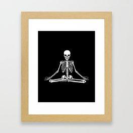 Meditation Skeleton Framed Art Print