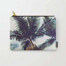 Tropical Hawaiian Vintage Palm Trees Fine Art Photo Carry-All Pouch