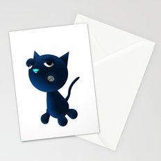 Light Blue Cat Stationery Cards