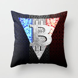bitcoin france Throw Pillow