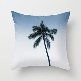 palm tree ver.navy Throw Pillow