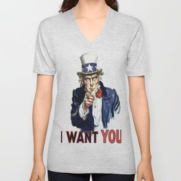 Uncle Sam I Want You Unisex V-Neck