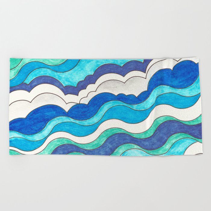 Make Waves II Beach Towel