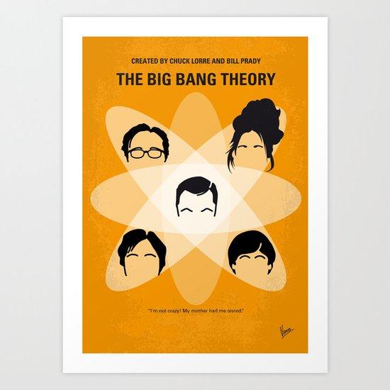 No196 My The Big Bang Theory minimal poster Art Print