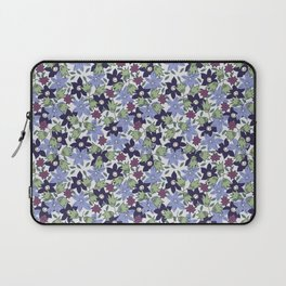 Violets Are Blue floral print Laptop Sleeve