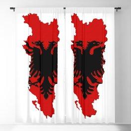 Albania Map with Albanian Flag Blackout Curtain