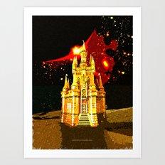 GOLDEN CASTLE-005 Art Print