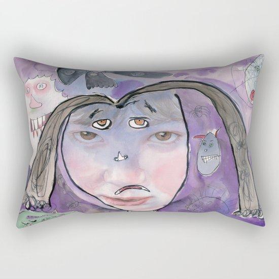 I feel scared Rectangular Pillow