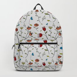 Floral Spice, Flowers Print Pattern Backpack