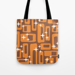 Retro Mid Century Modern Abstract Pattern 779 Orange and Brown Tote Bag