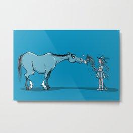 Hobby Horse Romance Metal Print