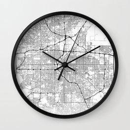 Minimal City Maps - Map Of Denver, Colorado, United States Wall Clock