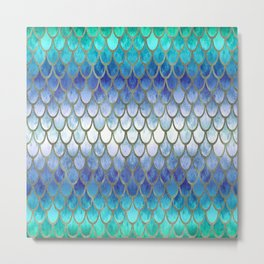 Pretty Mermaid Scales 21 Metal Print