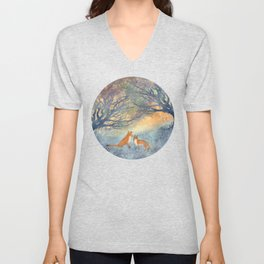The Two Foxes Unisex V-Neck