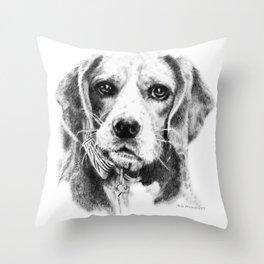 Bruno the Beagle Throw Pillow