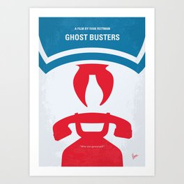 No104 My Ghostbusters minimal movie poster Art Print