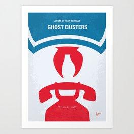 No104 My Ghostbusters minimal movie poster Art Print
