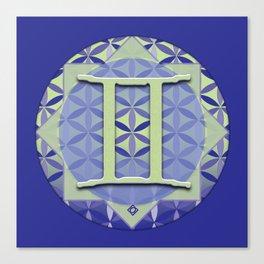 GEMINI Flower of Life Astrology Design Canvas Print