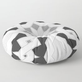 Oriental Pattern - Geometric Design - lines Floor Pillow