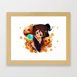 the.Pumpkin Queen Framed Art Print