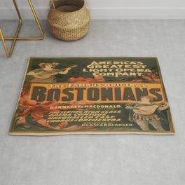 Vintage poster - The Famous Original Bostonians Rug