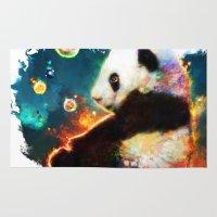 pandas Area & Throw Rugs featuring pandas dream by ururuty