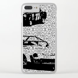 Vintage Racing #1 Clear iPhone Case
