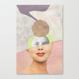 Ritratto riciclato Canvas Print
