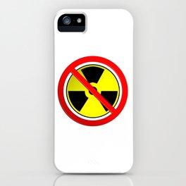 No Nuclear Symbol iPhone Case