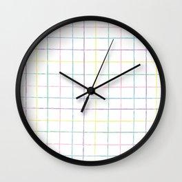 Painterly Stripes Wall Clock