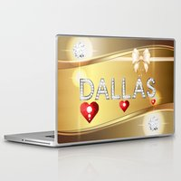 dallas Laptop & iPad Skins featuring Dallas 01 by Daftblue
