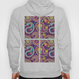 Checkered background with paisley pattern Hoody
