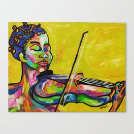Bantus and violins Canvas Print