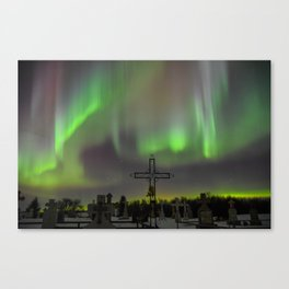 Ghostly Northern Lights Canvas Print